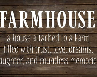 Farmhouse Love Laughter Memories Wood Sign, Canvas Wall Art, Christmas, Housewarming, Father's Day, Mother's Day