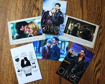 Once Upon a Time and Captain Swan Mini Lustre Photo Prints