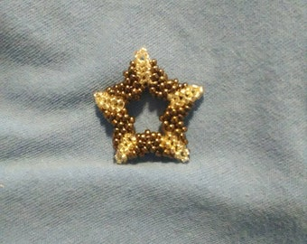 Brown and Silver Star Pendant