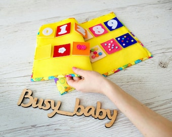 Montessori quiet book Travel toy Busy book Homeschool Felt numbers Montessori toy Busy blanket Quiet felt book Montessori materials Counting