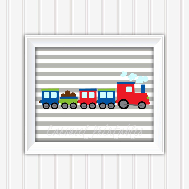 Train Wall Art Transportation Wall Art Train Decor Instant Download Childrens Wall Art Kids Wall Art Nursery Wall Art DIY Wall Art  sc 1 st  EmersonLaneDesignCo & Train Wall Art Transportation Wall Art Train Decor Instant ...