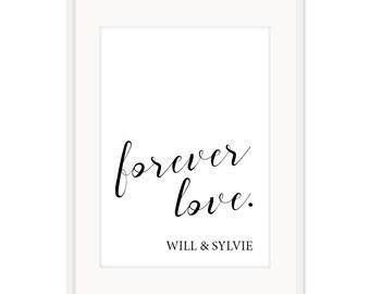 Forever Love Custom Poster