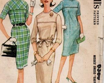 1962 VINTAGE McCALLS PATTERN. Dress. 6388 Size 14 Bust 34