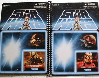 "Shocktrooper and Clone Trooper Lieutenant Recycled Vintage Style Star Wars ""Lost Line"" Notebook"