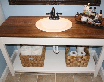 Farmhouse Reclaimed Wood Bathroom Vanity