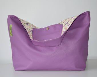 bag leather old print/Pink Purple yellow orange