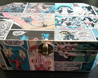 DC Comic Strip Wooden Keepsake Jewelry Box