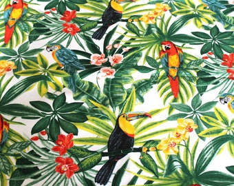 Coupon fabric upholstery Parrot 68 x 50 cm