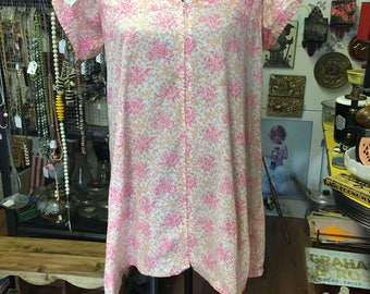 Micro mini dress or peasant style blouse, front zip, 1960, 1970