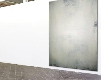 Abstract Minimal Modern Art black & white pearl iridescent extra large wall art canvas handpainted original minimalist art