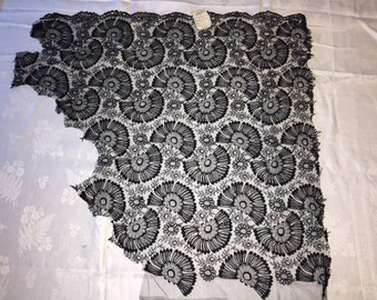 Black Victorian French Lace