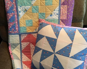 Old-fashioned crib quilt & Pillow Cover