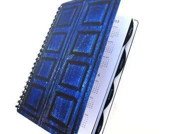 River Song 2018 Daily Planner Dr. Who Tardis UpCycled Academic Student Agenda The Doctor Diary
