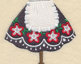 Oktoberfest Beer Maid Dirndl Clothesline Embroidered Flour Sack Hand/Dish Towel