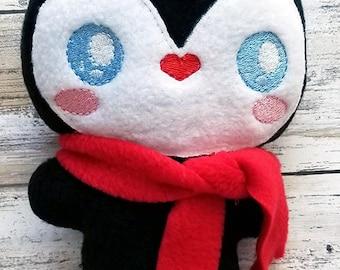 Penguin Stocking Stuffer Stuffie - Kawaii Plush - Christmas Plush -  Soft Stuffed Animal - Fabric toy