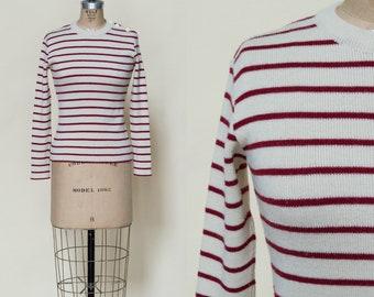 1970s Striped Long Sleeve Sweater