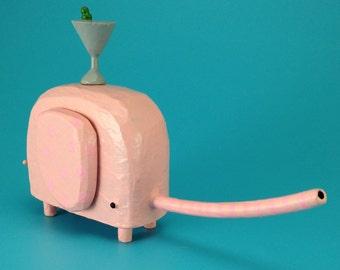 elephant sculpture   elephant figurine   martini lover gift   new mother gift   divorce gift   custom elephant   modern elephant