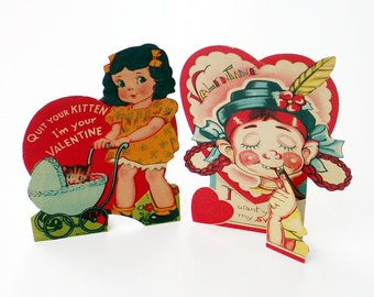 1950s Movable Valentines
