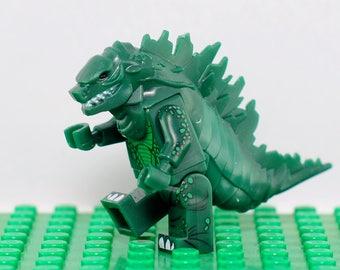 Godzilla Custom minifigure (Lego Compatible) Dinosaur King of the Monsters Kaiju Lizard Halloween Christmas Gift Stocking Stuffer Present