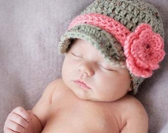 Baby Hat, Crochet Hat, Newborn Hat,  Newborn Photo Prop, Baby Girl Hat, Infant Hat, Newborn Girl Hat, Newborn, Take Home Outfit, Baby Beanie