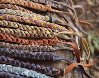 Leather Braided Bracelets Naturals