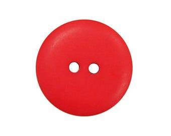 Round button colored red 20MM 2 holes