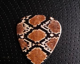Snake skin print guitar pick