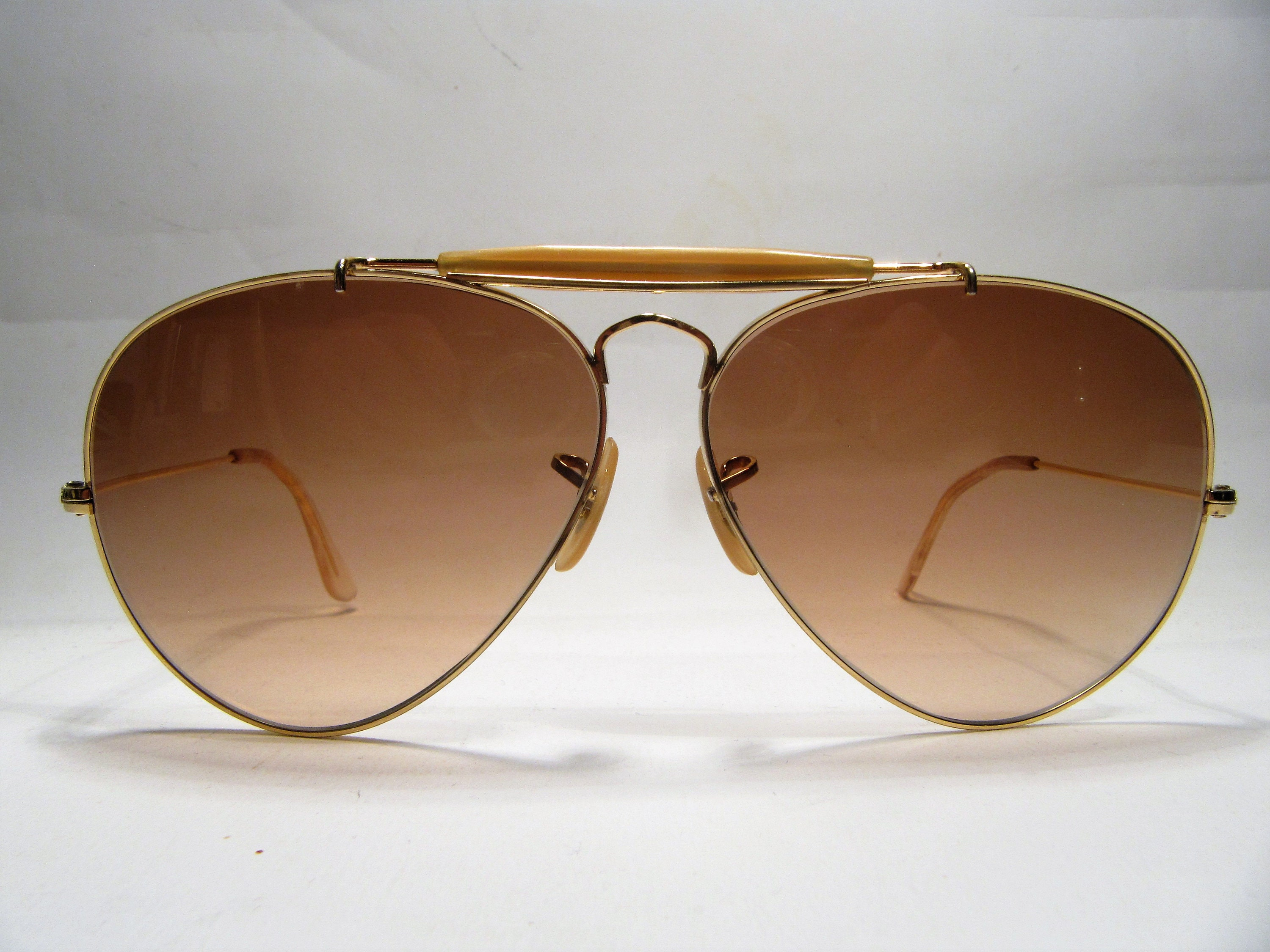 Ray Ban B & L Outdoorsman gold Metall Vintage Sonnenbrille