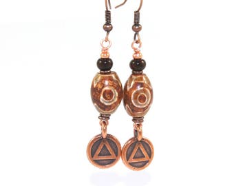 Sobriety Gift  for Recovery Anniversary or Milestone, Unity Symbol Earrings