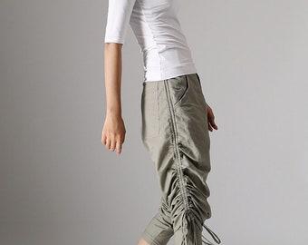 Gray linen Pants, harem pants, Boho Pants, linen Pants, Hippie Pants, capri pants, Linen Pant Woman, long pants, linen capri pants 980