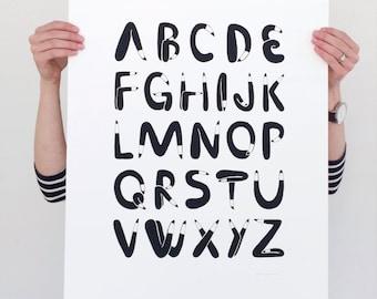 Leggy Letters Alphabet Poster