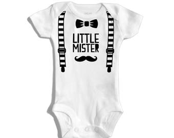 Little mister - Baby boy coming home outfit - Baby boy outfit - Baby boy clothes - Baby shower gift boy - Boy one year outfit - Babyboy