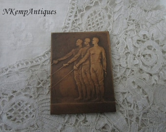 Old fencing medal/plaque for the collector