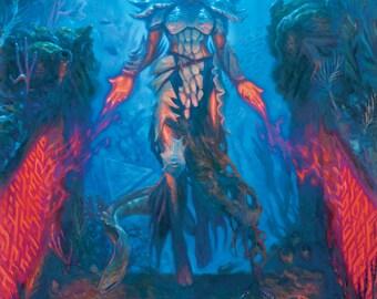 Jori En, Ruin Diver, signed giclee print