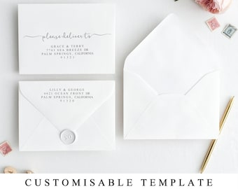 A Envelope Template Etsy - A6 envelope template