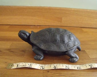 Cast Iron Tortoise Ink Well Early 20th Century