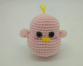 Little chicken doll handmade crochet amigurumi kawaii - READY TO SHIP -