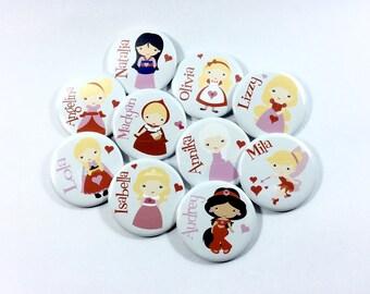 Cute School Valentine Buttons, Valentine for Kids, Kids Valentine, Class Valentines, Princess Valentine, Super Hero Valentine