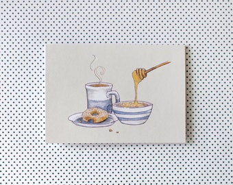 Breakfast Porridge Illustrated Greeting Card