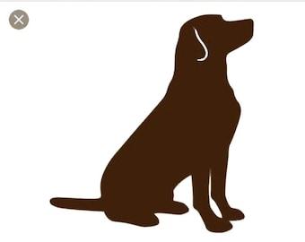 Puppy Dog Lab SVG Cut File - dog silhouette svg - dog svg design