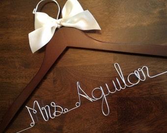 HUGE SALE Personalized Hangers/ Bride/ Wedding Dress Hanger/Bridal Gift/ bridal party GIFTS/ wire hanger/ wedding hanger