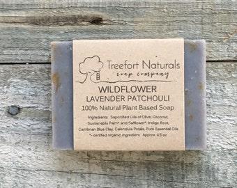 Wildflower Soap - Handmade Cold Process, All Natural, vegan, essential oils, Calendula, Cornflower, Honeysuckle