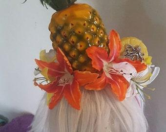 Pineapple, Pineapple headband, Fruit, Fruit headband, Octopus, Tiki, Faux fruit