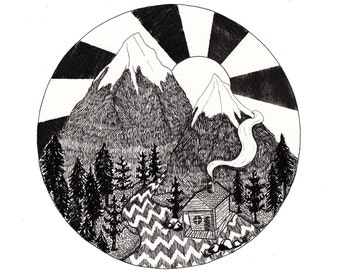 Forest Mountain Print