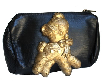 Gold Lamb Black Altered Vintage Small Bag