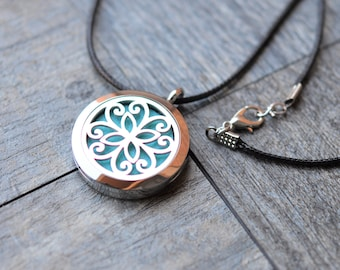 Stainless Steel Essential Oil Diffuser Necklace-Aromatherapy-2ML Essential Oil Included