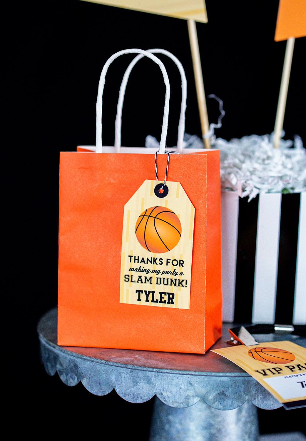 This is a picture of Exceptional Printable Party Favor Tags