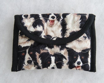 Quilted Card Holder - Border Collies