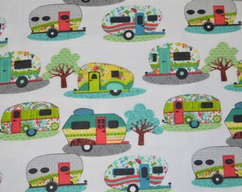 Floral Campers Fitted Crib/Toddler Bedding Items ~Custom Made~ FLANNEL