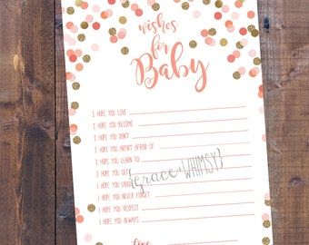 Wishes for baby - Baby Shower activity
